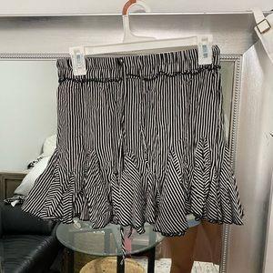 Black and white striped skirt!